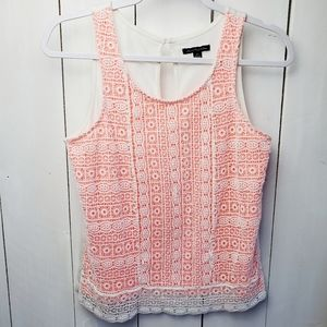 American Eagle Outfitters| Open Weave Lined Top